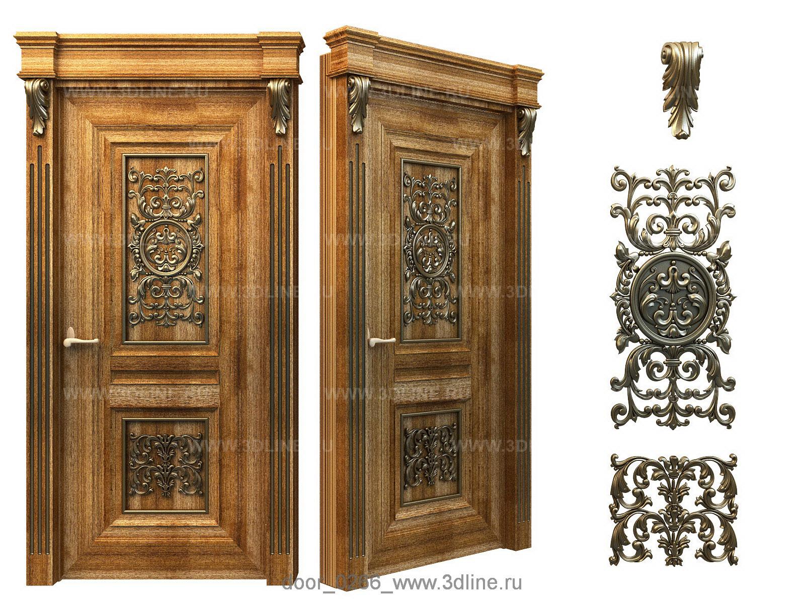 фото декоративные деревянные двери