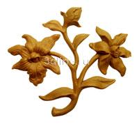 Резные цветы из дерева фото